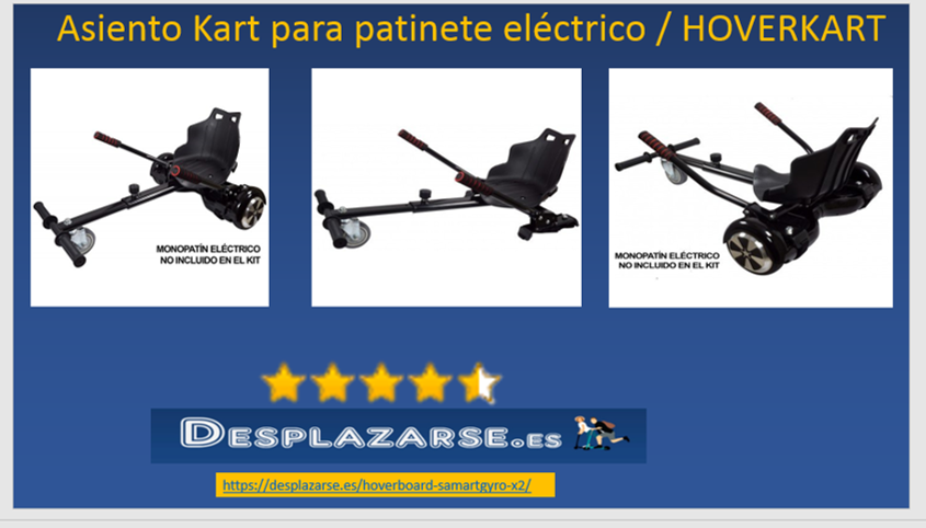 Asiento Kart para patinete electrico HOVERKART