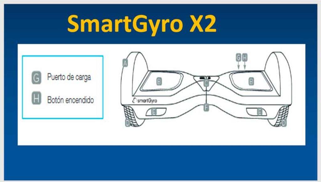 SmartGyro-X2-boton-de-encendido-y-puerto-de-carga