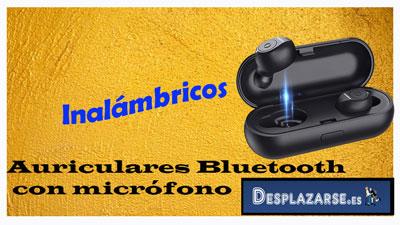 auriculares bluetooth inalámbricos con micrófono