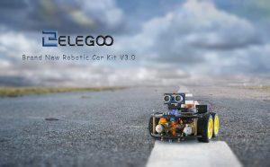ELEGOO UNO Proyecto Kit de Coche Robot Inteligente