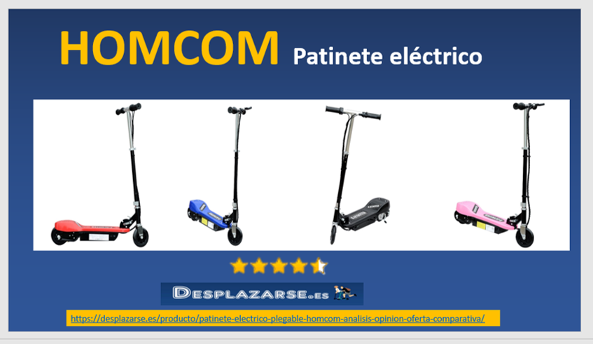 HOMCOM-Patinete-electrico-plegable