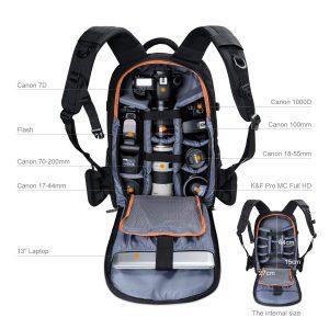 mochila para camaras K&F Concept