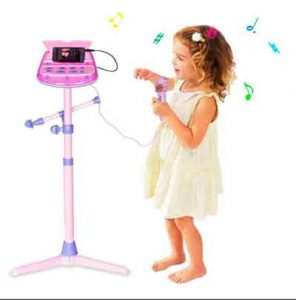 microfono-de-karaoke-sobre-pie-con-altavoz